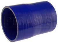 Click for a larger picture of Blue Silicone Hose, 3 3/4 x 3 1/2 inch ID Straight Reducer