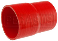 Click for a larger picture of Red Silicone Hose, 3 3/4 x 3 1/2 inch ID Straight Reducer