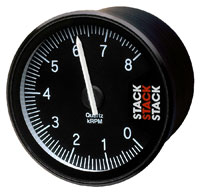 Click for a larger picture of Stack Clubman Tachometer, Black Face
