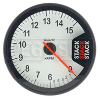 Click for a larger picture of Stack Clubman Tachometer, White Face