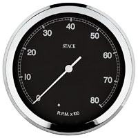Click for a larger picture of Stack ST230C 125mm Classic Tachometer, Black Face
