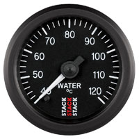 Click for a larger picture of Stack Stepper Analog Water Temperature Gauge, 40-120 C