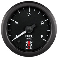 Click for a larger picture of Stack Stepper Analog Fuel Level Gauge, Programmable Range