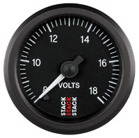 Click for a larger picture of Stack Stepper Analog Voltmeter, 8-18 V