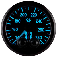 Click for a larger picture of Stack Pro-Control Oil Temperature Gauge, 140-280 F
