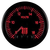 Click for a larger picture of Stack Pro-Control Battery Voltage Gauge, 8-18 Volt