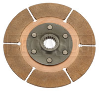 "Click for a larger picture of Tilton 5.5"" OT-3 Clutch Disc, Metallic, Std Hub, 25/32 x 18"