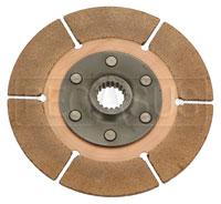 "Click for a larger picture of Tilton 5.5"" OT-3 Clutch Disc, Metallic, Std Hub, 25/32 x 18"