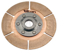 "Click for a larger picture of Tilton 5.5"" OT-3 Clutch Disc, Metallic, Std Hub, 7/8 x 20"