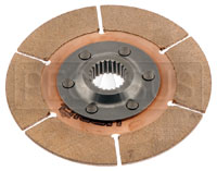 "Click for a larger picture of Tilton 5.5"" OT-3 Clutch Disc, Metallic, Ext Hub, 1 x 23"