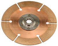 "Click for a larger picture of Tilton OT-2 Clutch Disc, 7.25"", 7/8 x 10 Spline, BMC/Triumph"