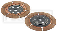 Click for a larger picture of Tilton OT-2 Dual Clutch Disc Set, Nested Hubs, 1x23 Spline
