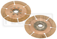 "Click for a larger picture of Tilton OT-2 Dual Clutch Disc Set, 7.25"", 1 5/32"" x 26 Spline"