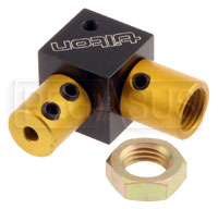 Click for a larger picture of Tilton Right Angle Coupler for 7/16-20 Bias Adjuster Cable
