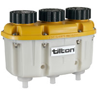 Click for a larger picture of Tilton 3-in-1 Plastic Reservoir with Push-On Hose Barbs