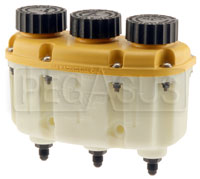 Click for a larger picture of Tilton 3-in-1 Plastic Reservoir with 4AN Fittings