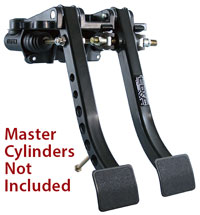 Click for a larger picture of Tilton Dual Pedal Asmy 6.2 Ratio, Firewall Mt, Steel
