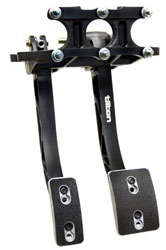 Click for a larger picture of Tilton Dual Pedal Assy, 5 - 6.2 Ratio, Overhung Mt, Aluminum