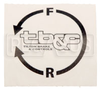 Click for a larger picture of Tilton Adjuster Cable Knob Decal, Counter-clockwise