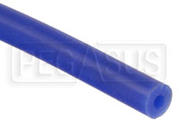 "Click for a larger picture of Blue Silicone Vacuum Hose, 3mm (1/8"") ID, sold per foot"