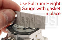 Step 18, Use fulcrum height gauge to check fulcrum adjustment.