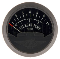 Click for a larger picture of Single CHT Gauge, 2 1/16in, 100 - 700F