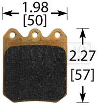Click for a larger picture of Wilwood 6812 Brake Pad, Dynalite Single, BP-10 Compound
