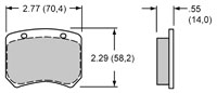 Click for a larger picture of Wilwood Brake Pads, FF, F2000 Lockheed LD20 - H Compound