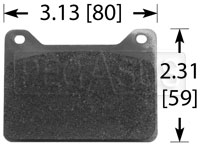Click for a larger picture of Wilwood 7912 Brake Pad, Wilwood Powerlite, PL2R/ST
