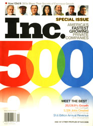 Inc. Magazine Cover, 2007 Inc 500/5000 Special Issue
