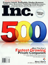 Inc. Magazine Cover, 2008 Inc 500/5000 Special Issue