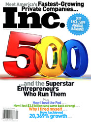 Inc. Magazine Cover, 2010 Inc 500/5000 Special Issue
