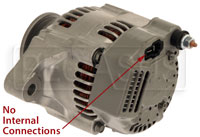 Click for a larger picture of Single Wire 50 Amp Ultra-Mini Alternator
