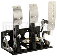 Click for a larger picture of OBP Pro-Race Floor Mount 3-Pedal Assembly, without MC