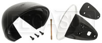 Click for a larger picture of Vitaloni Sebring Mach I Mirror, Black - Flat Lens