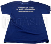 Click for a larger picture of Pegasus Soft Spun Cotton Tee Shirt, Deep Royal Blue