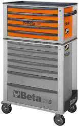 Click for a larger picture of Beta Tools C23ST-O Five-Drawer Portable Tool Chest, Orange