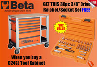 Click for a larger picture of C24SL Roller Tool Cabinet with Shelves, Orange - Ships Truck