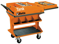 Click for a larger picture of Beta C25 TANK Trolley with Shelf, Orange - Ships by Truck