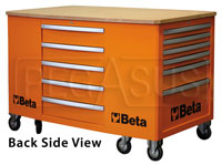 Click for a larger picture of Beta C31 28-Drawer Mobile Workstation, Orange - Ships Truck