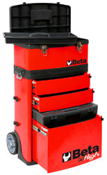 Click for a larger picture of Beta Tools C41H/R Two Module Tool Trolley, High - Red