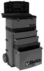 Click for a larger picture of Beta Tools C41H/G Two Module Tool Trolley, High - Grey