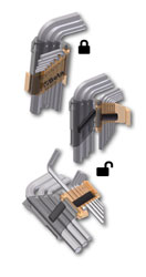 Click for a larger picture of 96BP/AS-SC9 9-Pc Ball End Hex Key Set in Locking Holder, SAE