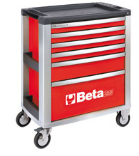 Click for a larger picture of Beta Tools C39/6-G Roller Tool Cabinet, Grey - Ships Truck