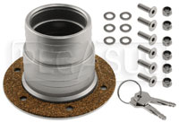 """Click for a larger picture of Fuel Safe Locking Remote Filler w/ Aircraft Style Cap, 3"""" BC"""