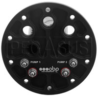 Click for a larger picture of OBP FST Internal Double Pump Cluster, 2x 340 LPH