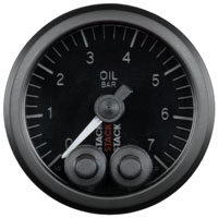 Click for a larger picture of Stack Pro-Control Oil Pressure Gauge, 0-7 Bar, 52mm