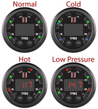 Click for a larger picture of Stack 4-Wheel Tire Pressure Monitoring System, Lite